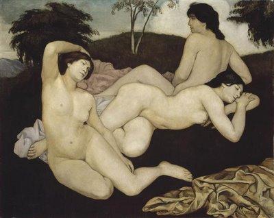 Bernard+Emile+(1868-1941,apr%C3%A8e+le+bain,3+nymphes,pba+lille