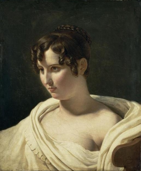 Guérin Pierre-Narcisse Guérin, jeune femme en buste, musée du Louvre