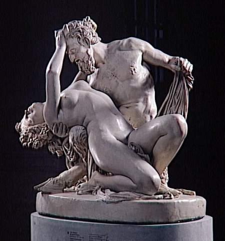 James Pradier,  Satyre et Bacchante. Marbre, Palais des beaux-arts Lille