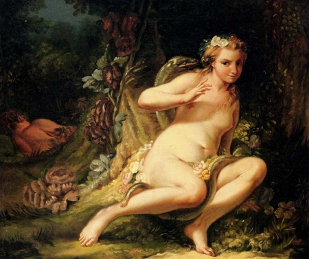 Jean-Baptiste-Marie pierre, Temptation of Eve, Private collection