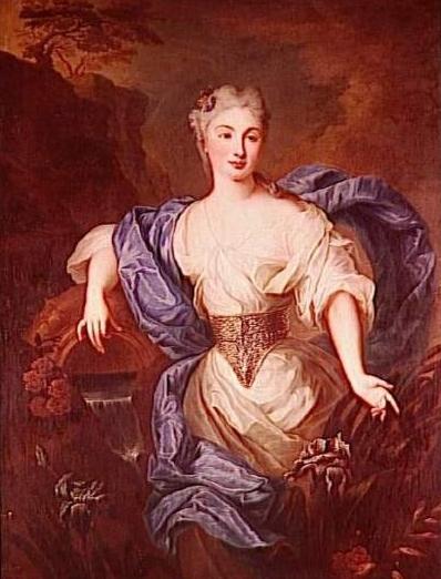 Pierre Gobert 1662-1744, portrait de femme en source, Dépot musée du Louvre. Hôtel Matignon