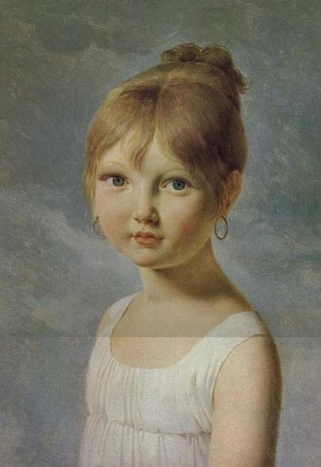 Pierre-Narcisse Guérin 1774-1833,  Portrait de petite fille