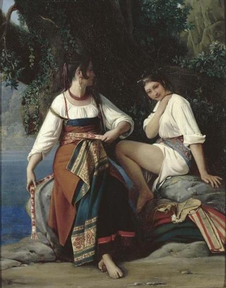 Robert Léopold 1794-1835, Deux baigneuses en costume de San Donato, mBA Nantes