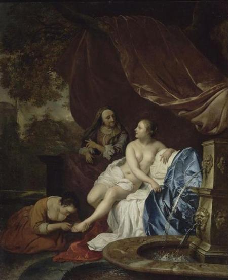 Van Loo Jacob 1614-1670, Bethsabée au bain, Louvre