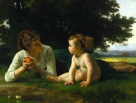 William-Adolphe Bouguereau, Temptation 1880., Minneapolis Institute of Arts