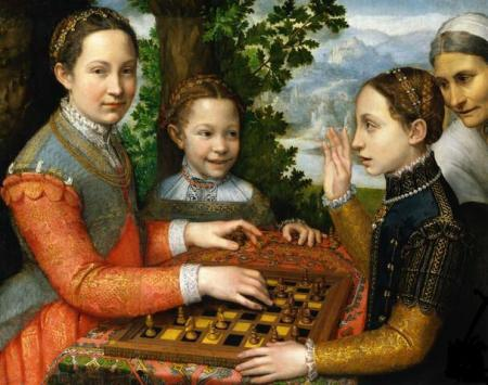 The_Chess_Game%2C_by_Sofonisba_Anguissola, The chess game 1855, Museum Navrodwe, Poznan, Poland